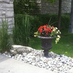 Urn with River rock