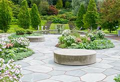 A beautiful landscape design of a garden