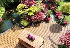Landscape design of a garden patio